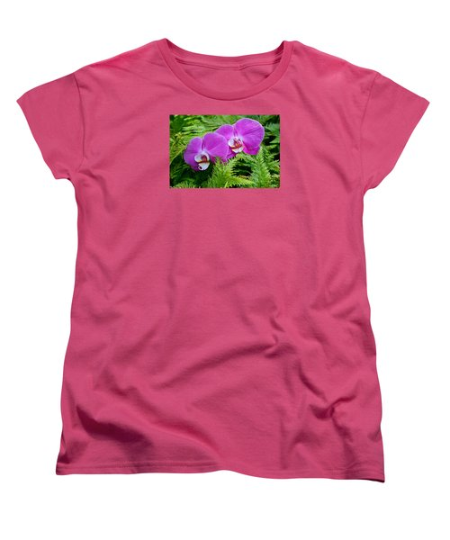 Phalaenopsis Moth Orchids Women's T-Shirt (Standard Cut) by Venetia Featherstone-Witty