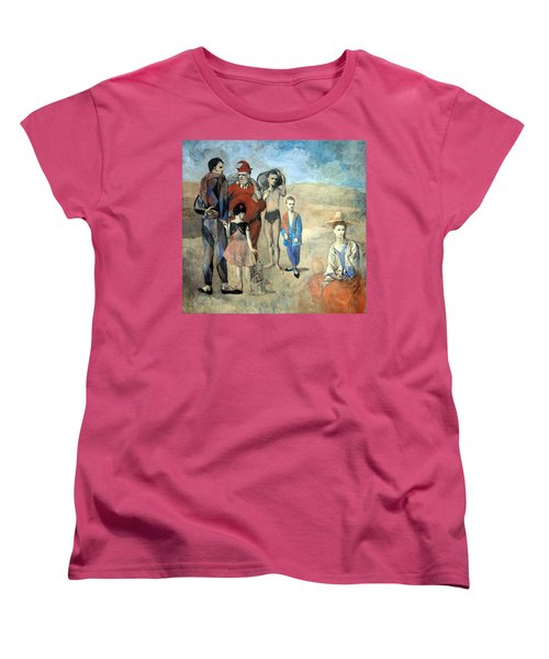 Picasso's Family Of Saltimbanques Women's T-Shirt (Standard Cut) by Cora Wandel