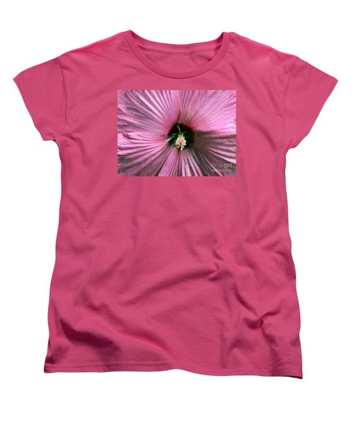 Pie Plate Hibiscus Women's T-Shirt (Standard Cut) by Nina Silver
