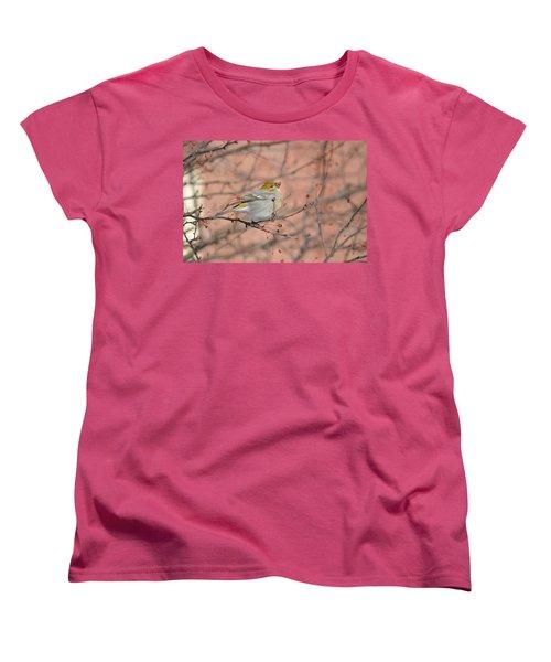 Women's T-Shirt (Standard Cut) featuring the photograph Pine Grosbeak by James Petersen