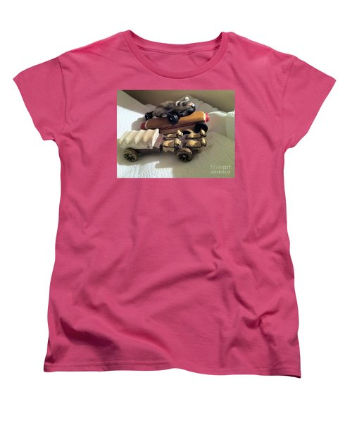 Pinewood Derby Art Women's T-Shirt (Standard Cut) by Mary Ellen Anderson