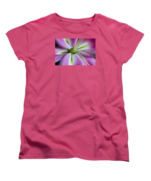 Women's T-Shirt (Standard Cut) featuring the photograph Pink Asiatic Lily by Julie Andel