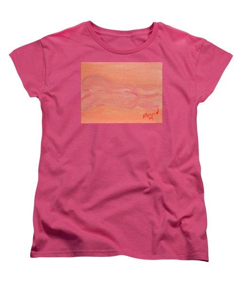 Pink Nude On Orange Women's T-Shirt (Standard Cut) by David Trotter