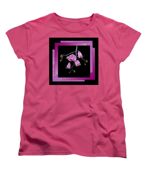 Women's T-Shirt (Standard Cut) featuring the photograph Framed Orchid Spray by Patti Deters