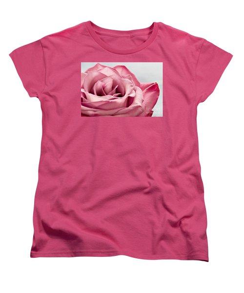 Pink Rose Macro Women's T-Shirt (Standard Cut) by Carsten Reisinger