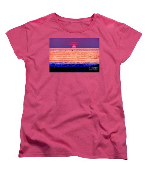 Pink Sun Women's T-Shirt (Standard Cut) by Nina Ficur Feenan