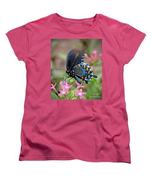 Pipevine Swallowtail Women's T-Shirt (Standard Cut) by Liz Masoner