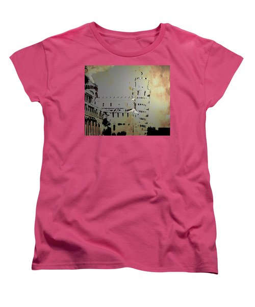 Women's T-Shirt (Standard Cut) featuring the digital art Pisa Italy 1 by Brian Reaves