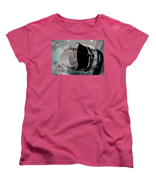 Women's T-Shirt (Standard Cut) featuring the photograph Planck Space Observatory Before Launch by Science Source
