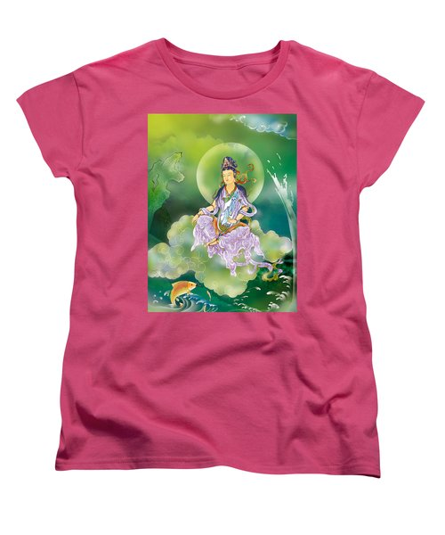 Women's T-Shirt (Standard Cut) featuring the photograph Playing Avalokitesvara   by Lanjee Chee