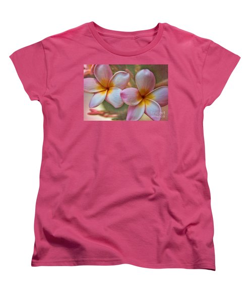 Plumeria Pair Women's T-Shirt (Standard Cut) by Peggy Hughes