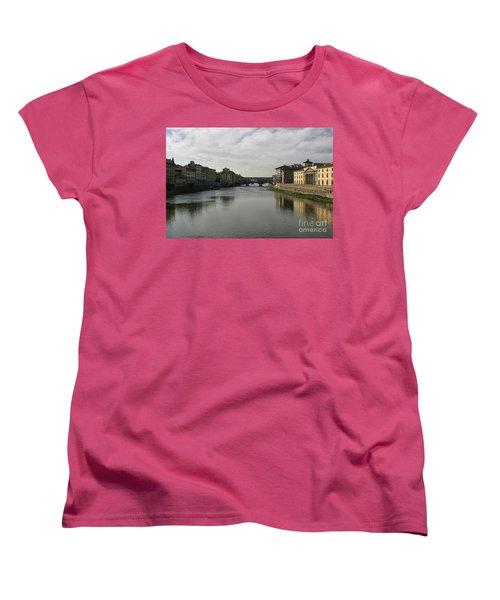 Women's T-Shirt (Standard Cut) featuring the photograph Ponte Vecchio by Belinda Greb