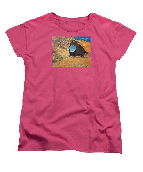 Portal At Window Rock  Women's T-Shirt (Standard Cut) by Barbara Barber