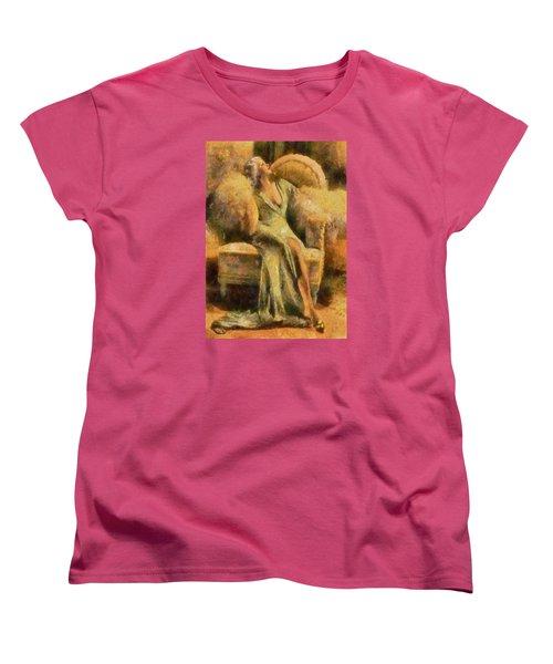 Portrait Of Jean Harlow Women's T-Shirt (Standard Cut) by Charmaine Zoe