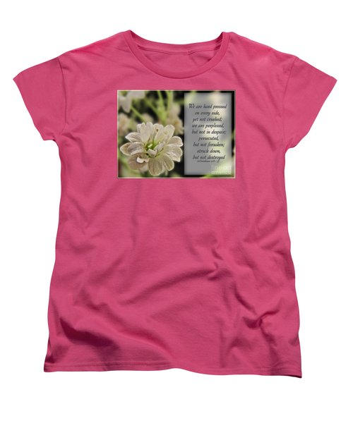 Pressed But Not Crushed Women's T-Shirt (Standard Cut) by Debbie Portwood