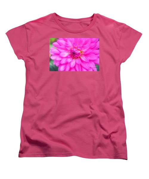 Pretty In Pink Dahlia Women's T-Shirt (Standard Cut)