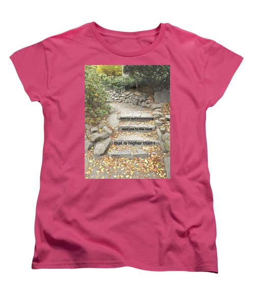 Women's T-Shirt (Standard Cut) featuring the photograph Psalm 61 2 by Joan Reese