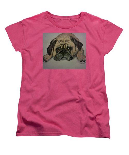 Pug Women's T-Shirt (Standard Cut) by Christy Saunders Church