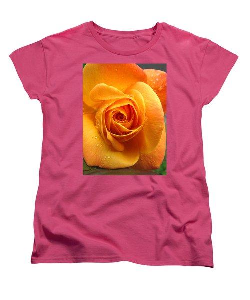 Women's T-Shirt (Standard Cut) featuring the photograph Pure Gold - Roses From The Garden by Brooks Garten Hauschild