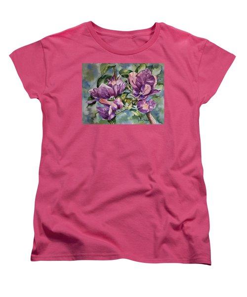 Purple Beauties - Bougainvillea Women's T-Shirt (Standard Cut) by Roxanne Tobaison