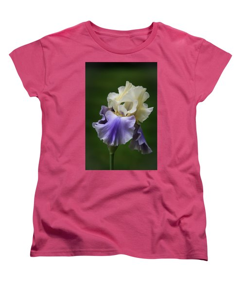 Women's T-Shirt (Standard Cut) featuring the photograph Purple Cream Bearded Iris by Patti Deters