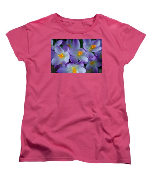 Purple Crocus Gems Women's T-Shirt (Standard Cut) by Tikvah's Hope