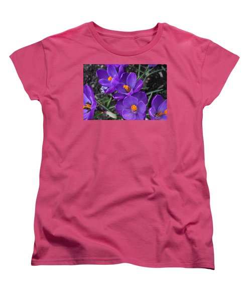 Women's T-Shirt (Standard Cut) featuring the photograph Purple Passion by Judy Palkimas