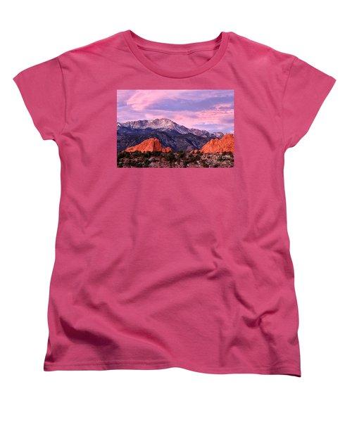 Purple Skies Over Pikes Peak Women's T-Shirt (Standard Cut) by Ronda Kimbrow