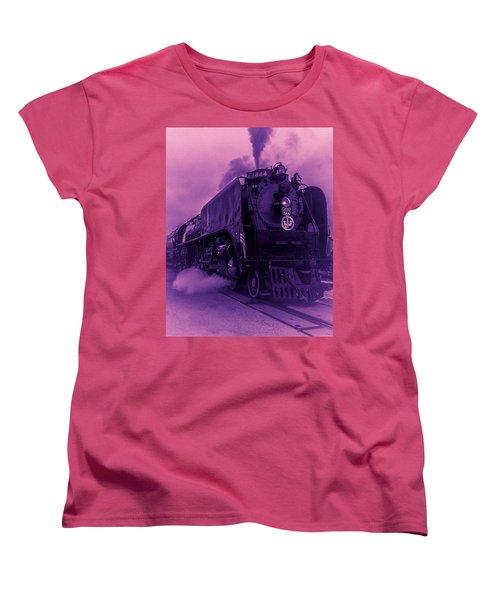 Women's T-Shirt (Standard Cut) featuring the photograph Purple Smoke by Bartz Johnson