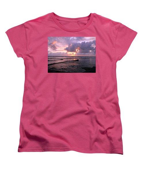 Women's T-Shirt (Standard Cut) featuring the photograph Purple Pink Sunset by Athena Mckinzie