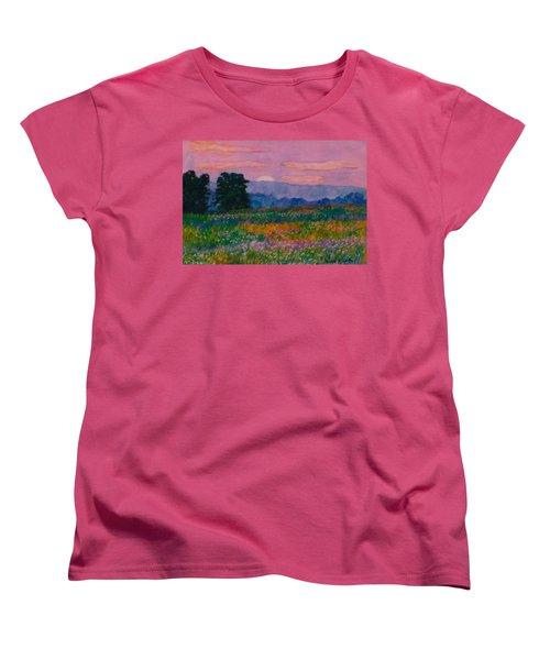 Purple Sunset On The Blue Ridge Women's T-Shirt (Standard Cut) by Kendall Kessler
