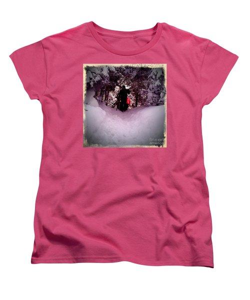 Women's T-Shirt (Standard Cut) featuring the photograph Quest For Powder by James Aiken
