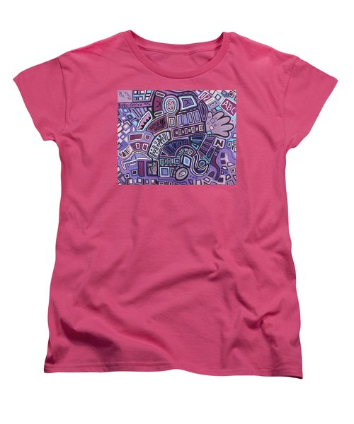 Women's T-Shirt (Standard Cut) featuring the painting Radio Active by Barbara St Jean