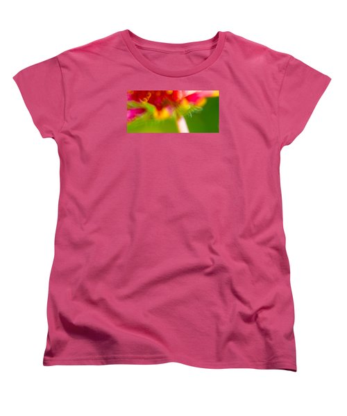 Rainbow Flower Women's T-Shirt (Standard Cut) by Darryl Dalton
