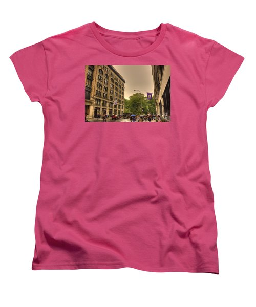 Raining At Nyu Women's T-Shirt (Standard Cut) by David Bearden