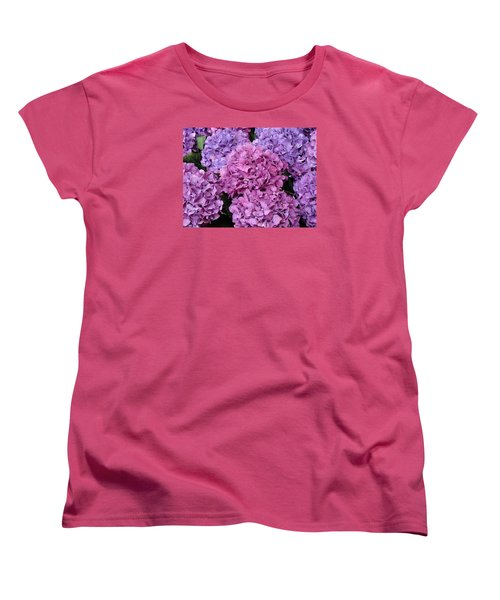 Women's T-Shirt (Standard Cut) featuring the photograph Rainy Day Flowers by Ira Shander