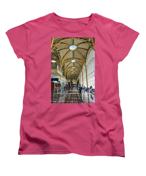 Women's T-Shirt (Standard Cut) featuring the photograph Reagan National Airport by Suzanne Stout