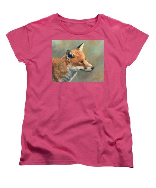 Red Fox Portrait Women's T-Shirt (Standard Cut)