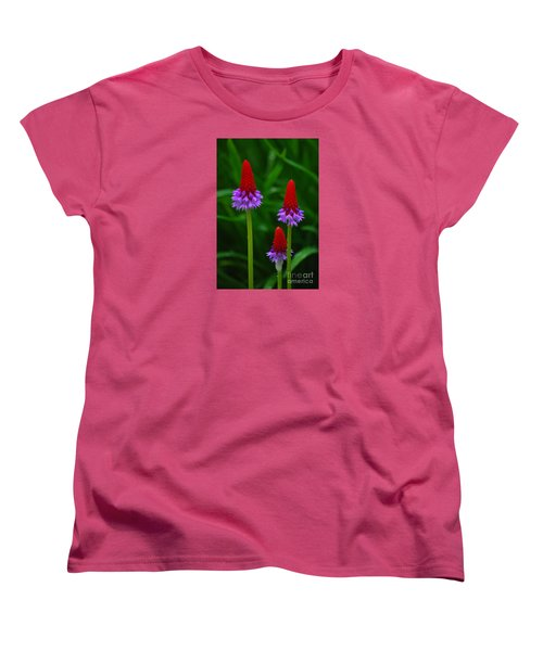 Women's T-Shirt (Standard Cut) featuring the photograph Red Hot Pokers by Cynthia Lagoudakis