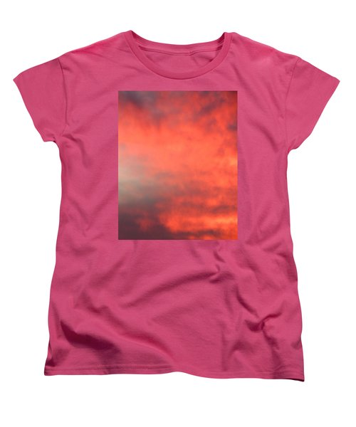 Red Sky At Night Women's T-Shirt (Standard Cut) by Laurel Powell