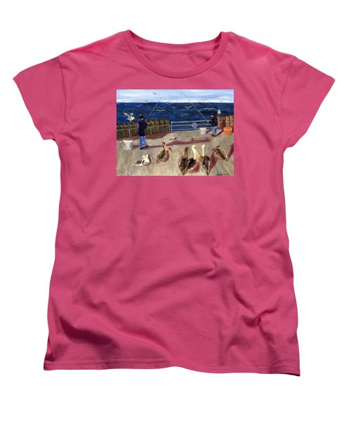 Redondo Beach Pelicans Women's T-Shirt (Standard Cut) by Jamie Frier