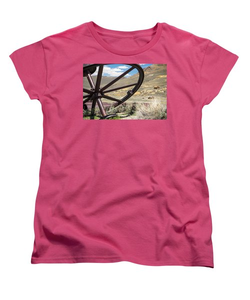 Women's T-Shirt (Standard Cut) featuring the photograph Relics Of Bodie by Steven Bateson