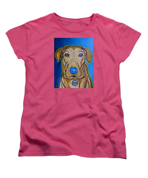 Women's T-Shirt (Standard Cut) featuring the painting Rescued by Victoria Lakes