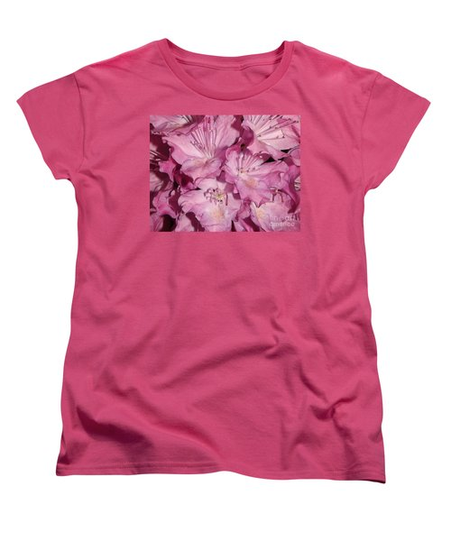 Rhododendron Bliss Women's T-Shirt (Standard Cut) by Sara  Raber