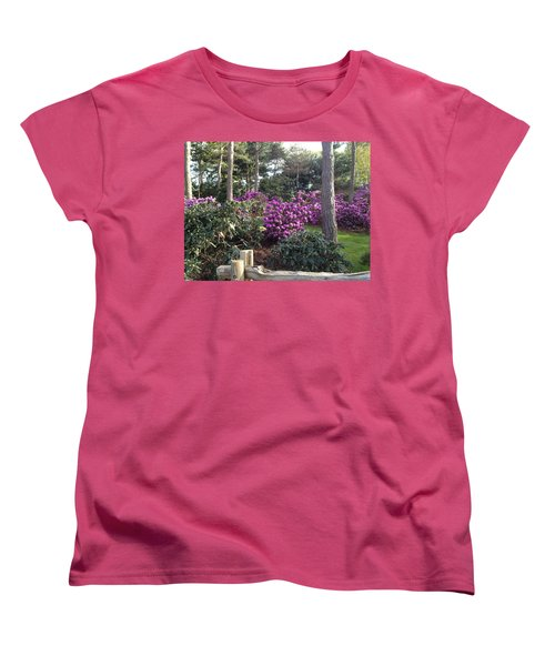 Rhododendron Garden Women's T-Shirt (Standard Cut) by Pema Hou
