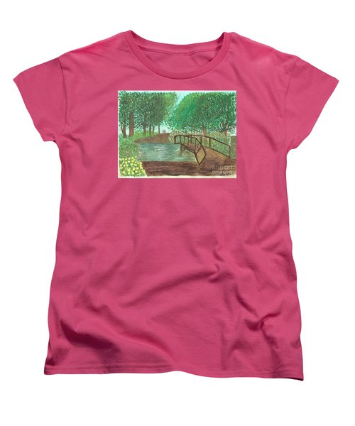 Riding Through The Woods Women's T-Shirt (Standard Cut) by Tracey Williams