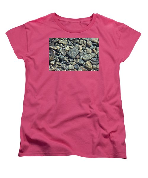 Women's T-Shirt (Standard Cut) featuring the photograph River Rocks One by Chris Thomas