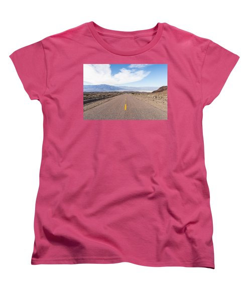 Road To Death Valley Women's T-Shirt (Standard Cut) by Muhie Kanawati