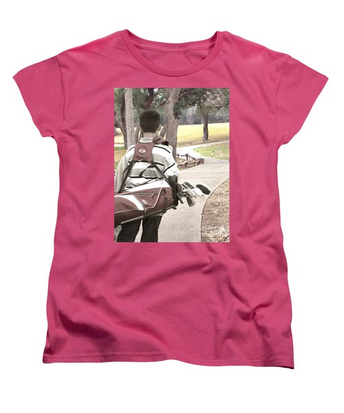 Women's T-Shirt (Standard Cut) featuring the photograph Road To Success - Inspirational Art by Ella Kaye Dickey
