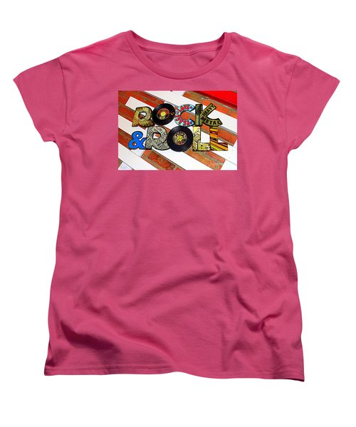 Rock N Roll Is Here To Stay Women's T-Shirt (Standard Cut) by Kathy  White